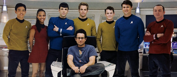J.J. Abrams and the cast of Star Trek Into Darkness